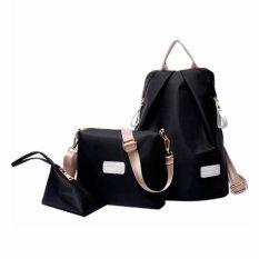 Spesifikasi Vicria Tas Ransel Branded Wanita High Quality Korean Elegant Nylon Bag Style 3In1 Tr2172 Hitam Baru
