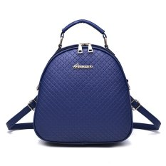 Toko Vicria Tas Ransel Branded Wanita High Quality Pu Leather Korean Elegant Bag Style Biru Di Riau Islands