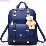 Jual Vicria Tas Ransel High Quality Import Korean Style Biru Tua Murah
