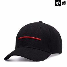 Kemenangan Topi Fesyen Pria Sederhana Bordir Bisbol Edisi Han Topi Runcing Leisure Hip Hop (Hitam