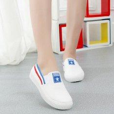 Toko Kemenangan Fashion Sneakers Ladies Olahraga Sepatu Kain Han Edisi Rendah Berjalan Berjalan Sepatu Biru Intl Terdekat