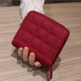 Review Kemenangan Bu Korea Mini Dompet Zipper Dompet Pendek Dompet Bordir Merah Oem