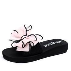 Harga Kemenangan Bu Slipper Butterfly Bunga Pantai Sepatu Tebal Bawah Sandal Pink Intl Origin