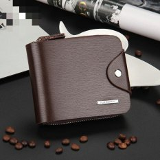 Spesifikasi Victory Men Buckles Wallet Fashion Zipper Short Package Multi Function Card Package Zero Wallet Coffee H Intl Baru