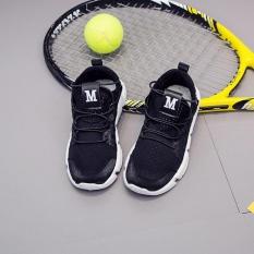 Kemenangan Baru Anak Gym Sepatu Fashion Sepatu Lari Semakin Boy Bersih Permukaan Casual Sepatu Tenis (hitam)-Intl By Dream Shopping Mall.
