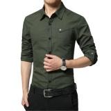 Harga Kemenangan Baru Fashion Pria Formal Kemeja Panjang Lengan Urusan Bisnis Shirt Han Edition Pure Cotton Shirt Hijau Tentara Intl Oem Tiongkok