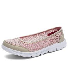 Kemenangan Baru Wanita Sepatu Datar Hollow Out Bud Silk Casual Fashion Bernapas Mulut Dangkal Slip Ons Sepatu Beige Intl Oem Diskon