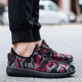 Kemenangan Baru Pria Kasual Bernapas Populer Fashion Kamuflase Olah Raga Sepatu Running Sepatu Merah Intl Tiongkok Diskon