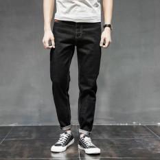 Kemenangan Baru Pria Korea Besar Ukuran Kode Jeans Longgar Modis Haren Celana Santai Trendi Kasual Celana