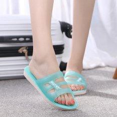 Beli Kemenangan Baru Ayat Satu Kata Wanita Sandal Flat Bawah Transparan Crystal Jelly Slipper Biru Muda Intl Oem Asli