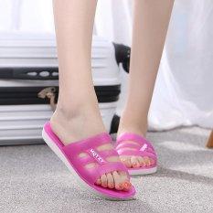 Harga Kemenangan Baru Ayat Satu Kata Wanita Sandal Flat Bawah Transparan Crystal Jelly Sandal Merah Intl Branded