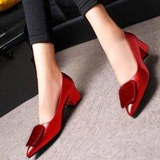Harga Kemenangan Baru Ayat Mulut Tunggal Dangkal Sepatu Mentah Heel Menunjuk Fashion Sepatu Wanita Merah Intl Di Tiongkok