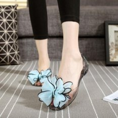 Toko Kemenangan Wanita Jelly Sandal Simpul Adalah Pantai Flat Shoes Biru Intl Murah Di Tiongkok