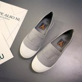 Kemenangan Wanita Fashion Sepatu Datar Balet Flat Round Canvas Shoe Korea Abu Abu Intl Terbaru