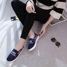 Harga Hemat Kemenangan Wanita Fashion Sepatu Datar Sepatu Lari Berjalan Sepatu Kasual Siswa Sepatu Biru Intl