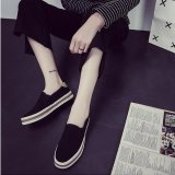 Harga Kemenangan Wanita Fashion Sepatu Datar Slip Ons Berjalan Sepatu Kasual Kanvas Sepatu Permukaan Hitam Intl Oem Original