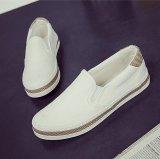 Harga Kemenangan Wanita Fashion Sepatu Datar Slip Ons Berjalan Sepatu Kasual Kanvas Permukaan Sepatu Putih Intl Terbaru