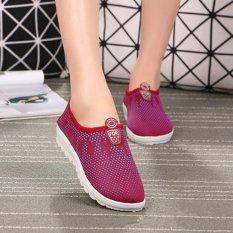Kemenangan Wanita Fashion Flat Olahraga Sepatu Sepatu Lari Berjalan Fesyen Merah Intl Diskon Akhir Tahun