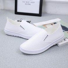 Jual Kemenangan Wanita Fashion Sepatu Sepatu Pu Ventilasi Vamp Tumit Datar Menjalankan Fesyen Putih Intl Di Bawah Harga