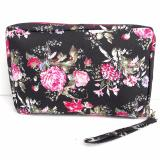 Vienna Linz Dompet Tas Selempang Wanita Motif Bunga Lia Fashion Korean Accessories Black Asli