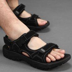Vietnam Sandal Kulit, Men's Beach Sepatu 2017 Baru Musim Panas Kode Non Slip Kenyamanan Olahraga Outdoor dan Keren-Intl