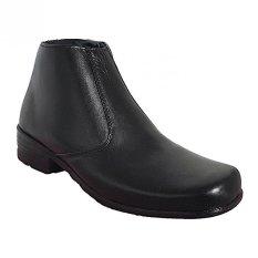 Beli Vindys Pdh Ret 03 Sepatu Kulit Boot Klasik Black Lengkap