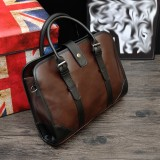 Review Tas Vintage Essentials Untuk Pria Kulit Asli Tas Komuter Tas Klasik Tas Bisnis Tas Tote Bag Brown Intl Oem Di Tiongkok