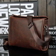 Promo Tas Vintage Essentials Untuk Pria Kulit Asli Tas Bahu Crossbody Tas Pria Tas Travel Messenger Briefcase Kulit Coklat Intl Tiongkok