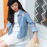 Beli Vintage Bordir Jaket Wanita Fashion Denim Mantel Bunga Dekorasi Koboi Mantel Membungkus Pakaian Luar Intl Online Terpercaya