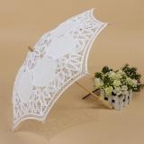 Toko Vintage Handmade Katun Parasol Renda Payung Pesta Pernikahan Bridal Dekorasi Menangani Panjang 25 Putih Intl Lengkap Tiongkok