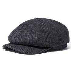 Spesifikasi Vintage Men Wool Gird Beret Hat Octagonal Newsboy Cap Winter Casual Cabbie Cap Driving Intl Yg Baik