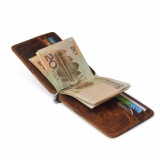 Jual Vintage Money Clip Front Pocket Wallet Slim Minimalist Wallet Rfid Blocking Dark Brown Intl Oem Ori
