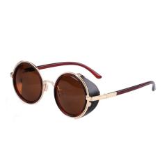 Harga Cyber Model Tahun Bulat Kacamata Hitam Tawney Coklat Merk Oem