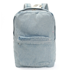 Harga Vintage Unisex Women Denim Backpack Rucksack Sch**l Bookbag Casual Travel Bag Light Blue Intl Original