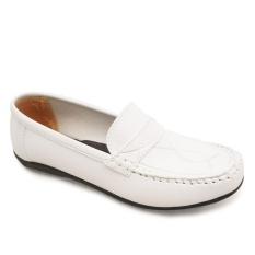 Jual Vioni Sepatu Loafer Moccasins Slip On Putih Murah