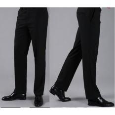 Viral Guido - Celana Panjang Formal Pria - Celana Panjang Kerja Kantor - Standart / Reguler Fit - Bahan Kain Teflon - Hitam - Viral Pro
