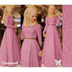[vlyapriskila] Hijab Fashion Gamis Zamirah Balotelli - Pink