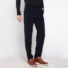 VM Celana Formal Reguler Fit Navy Blue Celana Kerja Katun - Long Pants