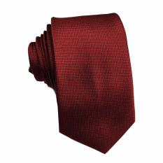 Jual Vm Dasi Fashion Slim Merah Maroon Slim Ties Import