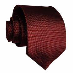 Kualitas Vm Dasi Fashion Slim Polos Bintik Merah Maroon Vm