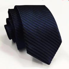 Jual Vm Dasi Polos Garis Slim 2 Inch Biru Dongker Slim Navy Tie Vm Branded
