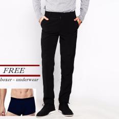 Toko Vm Get Free Underwear Boxer Pria Celana Formal Reguler Slim Panjang Hitam Terlengkap Dki Jakarta
