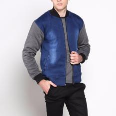 Vm Jaket Denim Jeans Wash Kombinasi Fleece Di Dki Jakarta