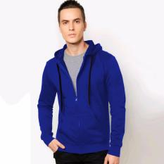 Tips Beli Vm Jaket Polos Fleece Zipper Hoodie Biru Benhur Yang Bagus
