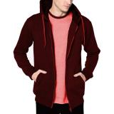 Harga Vm Jaket Polos Zipper Merah Maroon Sleting Hoodie Dki Jakarta