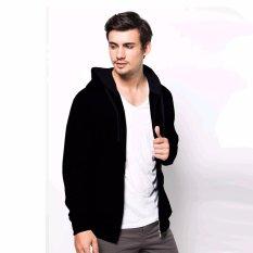 Spesifikasi Vm Jaket Zipper Korean Hoodie Black Outdoor Jacket Ariel Yg Baik