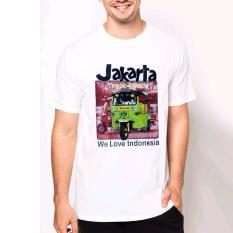 VM Kaos Oblong O Neck Putih Khas Jakarta - simple Tshirt