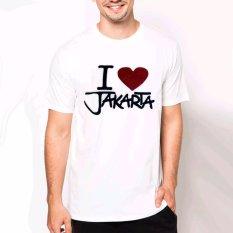 VM Kaos Oblong Putih Khas JAKARTA - T-shirt simple katun