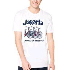 VM Kaos Polos Oblong O Neck Pendek Khas Jakarta - Simple T Shirt - Putih