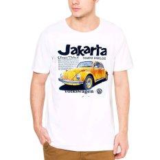 VM Kaos Polos Oblong O Neck Pendek Khas Jakarta - Simple T Shirt putih - CT-MOBIL KUNING